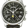 Longines Master Collection Moon Phase black