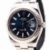 Rolex DateJust Oyster Perpetual Blue Dial18 Ka White Gol